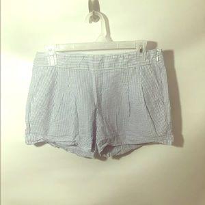 """J Crew • Sz 4 • Seersucker Shorts • Blue White 3"""""""
